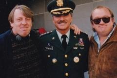 With Burt Reynolds and Mel Smith.